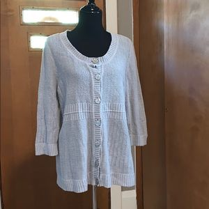 Christopher & banks gray cardigan with buttons